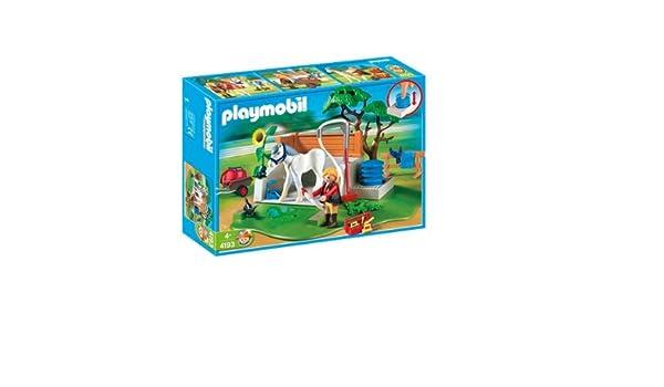 Playmobil 4193 - Set de Limpieza para Caballos: Amazon.es: Juguetes y juegos