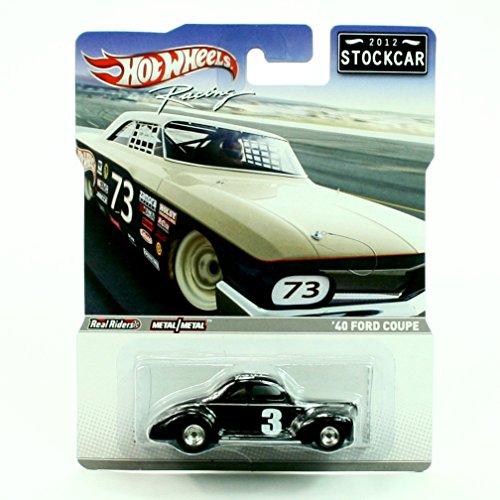 - Hot Wheels 2012 Stockcar Stock Car 1940 Ford Coupe Black #3