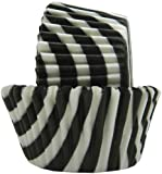 Regency Wraps Greaseproof Baking Cups, Black and White Stripes, 40 Count, Standard.