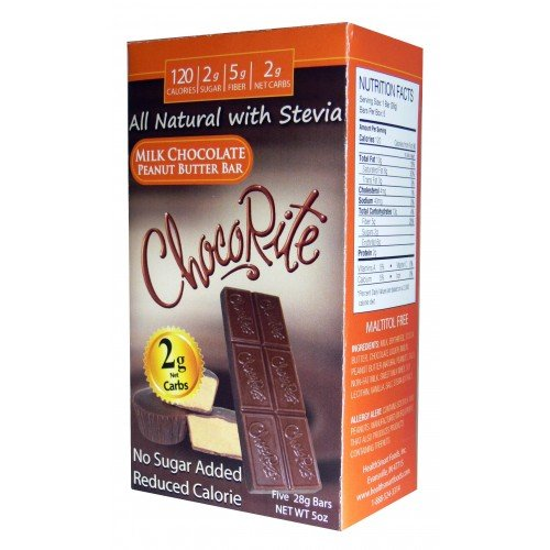 HealthSmart Foods ChocoRite Chocolate Peanut Butter Bar - South Beach Diet Peanut Butter