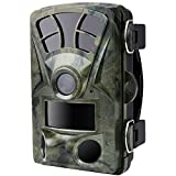 Hunting Trail Camera, Woopower H885 16MP 1080P Outdoor Camping IP56 Waterproof Tactical Hunting Camera Infrared Trail Dustproof Precise for Wildlife Observation and Security