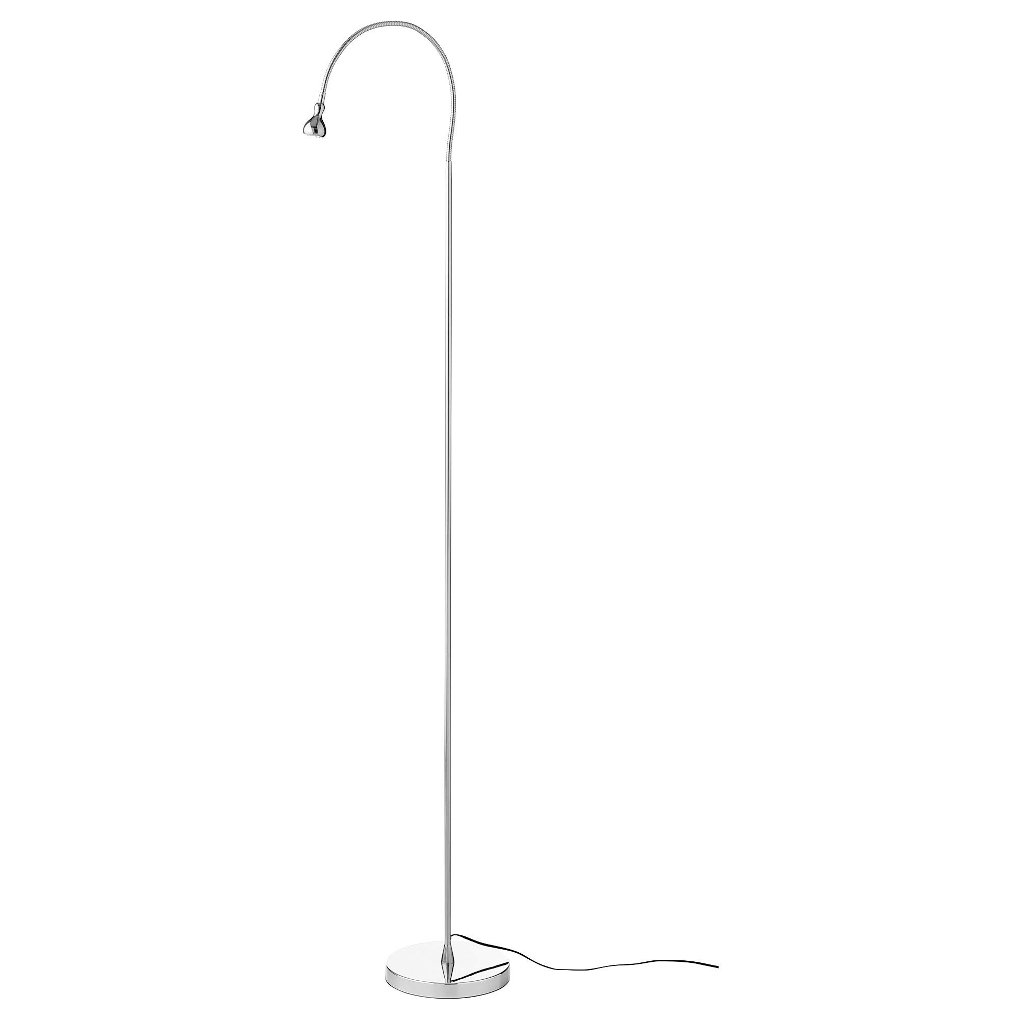IKEA 803.735.43 Jansjö Led Floor/Read Lamp, Silver Color