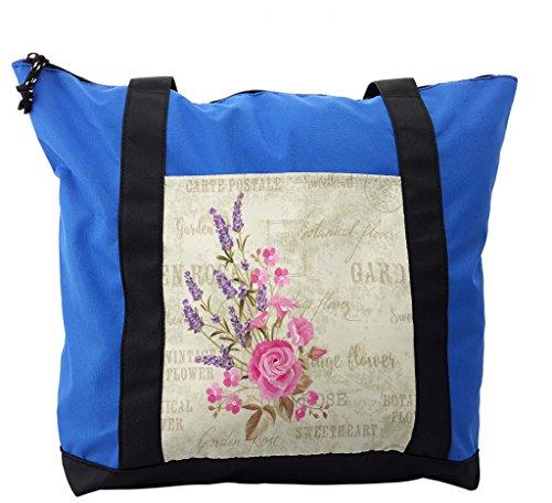 Postmark Originals (Lunarable Lavender Shoulder Bag, Postal Stamp and Postmarks, Durable with Zipper)