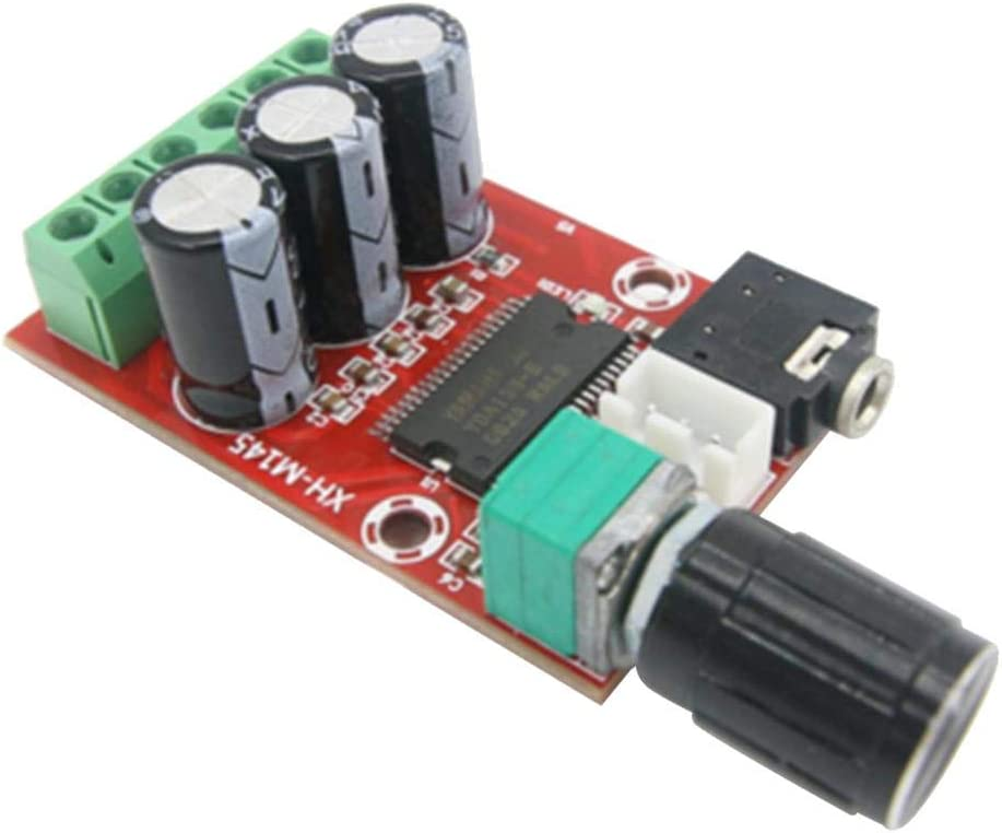 H HILABEE XH-M145 12W+12W Module dAmplificateur de Puissance Audio /à 2.0 Canal St/ér/éo Conseil dAmpli Bricolage Haut-Parleur