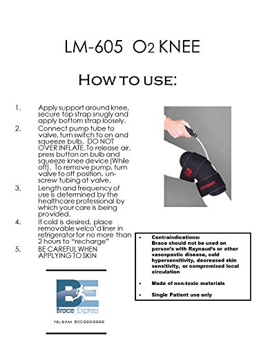 O2 Cold Therapy Knee Wrap with Ice Pack and Air Compression Wrap, Universal by O2 (Image #3)