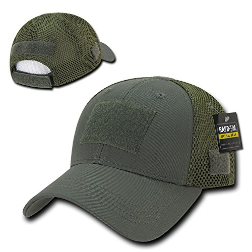 Rapid Dominance Low Crown Air Mesh Tactical Cap With Loop Patch - Olive