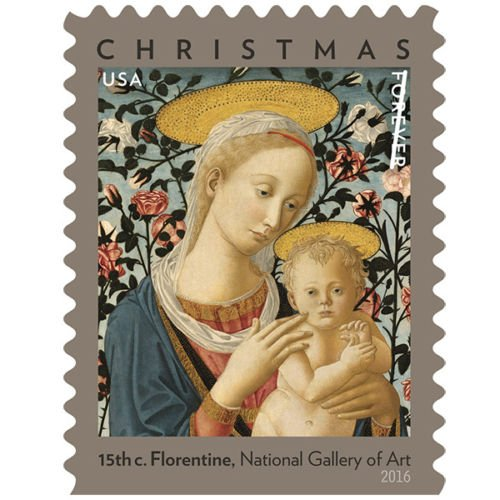Christmas Stamp Features A Detail Of Madonna And Child Rare High-Value For Collection USPS