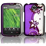 Purple Vines Hard Case Snap On Rubberized Cover For Pantech Renue P6030 (AT&T)