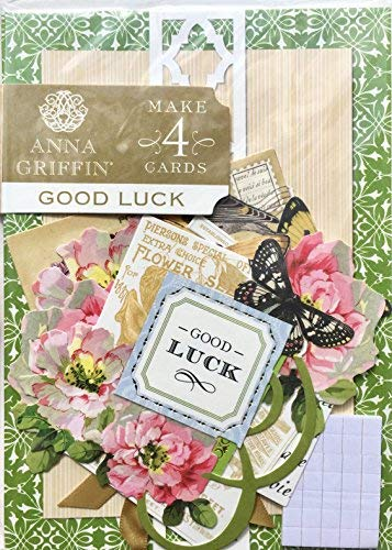 Anna Griffin Designs - Anna Griffin GOOD LUCK Card Making Kit | Makes 4 Embellished Cards