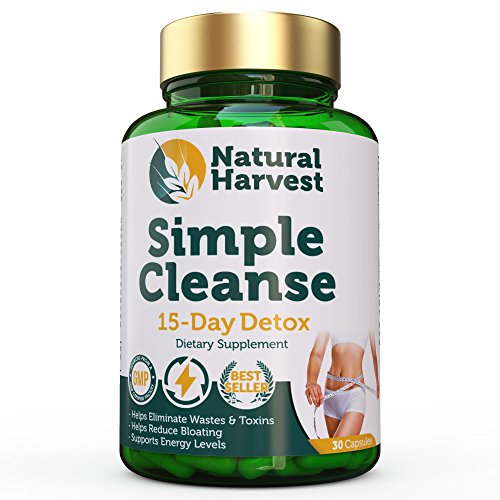 Closeout Sale: Natural Harvest Simple Cleanse – 15 Day Detox – Lose Weight, Reduces Bloating, Boosts Energy – Simply 2 Capsules at Bedtime! Review