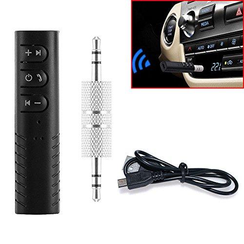 1 Set Black Audio Bluetooth Receiver 3.5mm Jack Music Adapte