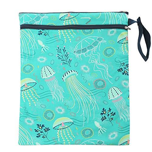 Daliuing Wet Dry Bags Diaper Bag Waterproof Baby Stroller Storage Hanging Bag Yoga Gym Bag Easy to Grab and Go-Blue Stripe Captain