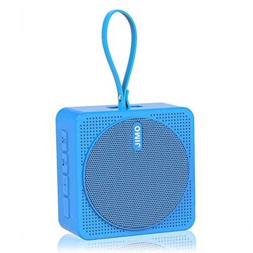 Bluetooth Speaker Portable Wireless mini Speaker by JIMO (Splash Proof, Light Weight, Ideal for Kids, Beach, Travel, Yoga, Outdoor) Blue