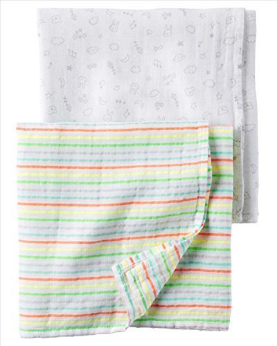 Carters Muslin Swaddle Blankets Pack