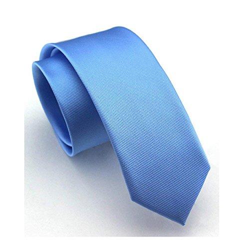 Men Fashion Sky Blue Designer Tie Inspired Necktie Pretty Birthday Gift for Son -