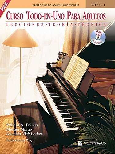 Curso Todo-En-Uno Para Adultos, Nivel 1: Lecciones * Teoria * Tecnica, Book & CD (Alfred's Basic Adult Piano Course)