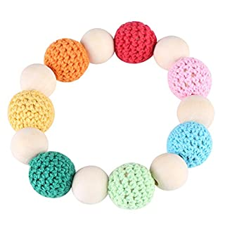 Meiyya Baby Natural Wood Clip Holder Teether Tool(Seven Color)