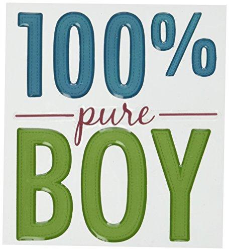 (EK Success Sticko Phrase Cafe Title Epoxy Stickers, 100% Pure Boy)