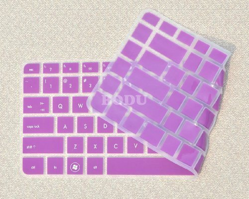 Bodu Colorful Keyboard Protector for HP Pavilion G4 G6 M4; Envy 4 6 15 Pro; DM4 DV4; HP 450 1000 2000; Presario 431 430 450 Q43 CQ57 CQ45.246 G1 Pavilion TouchSmart 14-B137TX,242 G1(Purple) (Hp Pavilion Dm4 Laptop Keyboard)