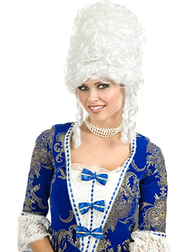 (Charades Women's Marie Antoinette Wig, White, One)