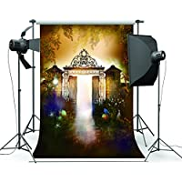 5x7FT Masquerade Mysterious Door Photography Backdrop Customized Photo Background Studio Prop WSJ-008
