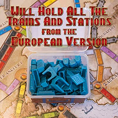 Storage Cases for Ticket to Ride Board Game, Compatible with Original and Europe Version, Expansion, Vintage Style