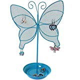 Cute Butterfly Jewelry Organizer – Turquoise Earring Jewelry Stand – Dresser Top Jewelry Organizer for Teens – Earring Holder