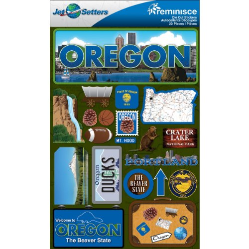 (Reminisce Jet Setters 2 3-Dimensional Sticker, Oregon)