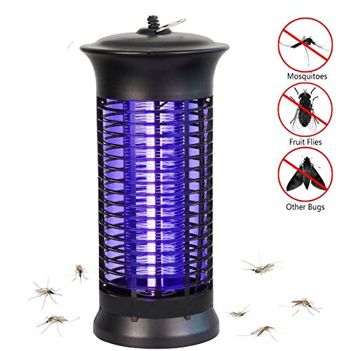 NoBug Bug Zapper Electric Indoor Insect Killer suspensible UV Light | Mosquito Killer Bug Fly Pests Attractant Trap Zapper Lamp w/Powerful 1000V Grid for Indoor Home Bedroom,Kitchen, Office(Black)