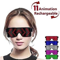 Red LED Light up Glasses