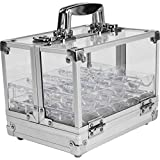 Trademark Poker 600-Piece Clear Acrylic Case with 6 100-Piece Chip Trays