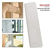 TODAYTOP Portable Air Conditioner Seal Plate Plastic Window Kit Universal Window Seal Sealing Baffle Mobile Window Door Frame Plate
