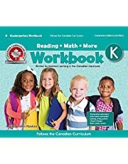 Kindergarten Workbook (Floorpad): Reading, Math and more: Colourful large-format activitie, follows the Canadian Curriculum