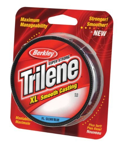 Berkley Trilene XL Filler 0.016-Inch Diameter Fishing Line, 20-Pound Test, 270 -Yard Spool, Fluorescent Blue and Clear by Pure Fishing