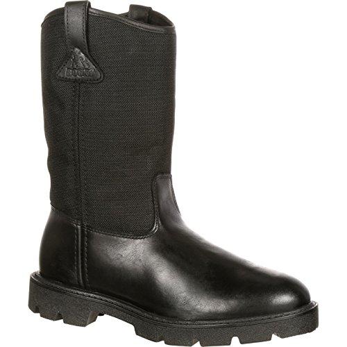 Rocky Warden Pull-On Wellington Duty Boot Black