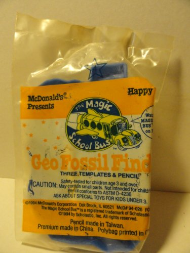 The Magic School Bus Happy Meal - Geo Fossil - Finder Store Fossil