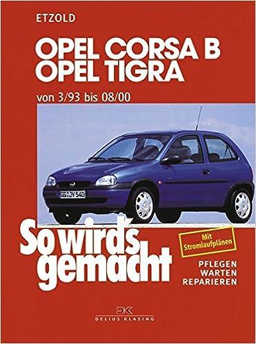 Opel Corsa B / Opel Tigra: von 3/93 bis 08/00. Benziner: 1,0 l/40 kW 55 PS 5/97 - 8/00 bis 1,6 l/80 kW 109 PS 9/93 - 8/94. Diesel: 1,5 l/37 kW 50 .