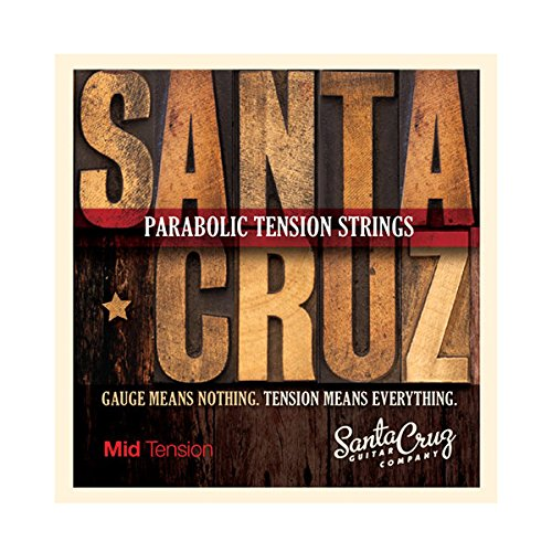 Santa Cruz Parabolic Tension Acoustic Guitar Strings Mid Tension by Santa Cruz