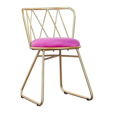 Amazon.com: Silla de comedor/silla simple/silla de hierro ...
