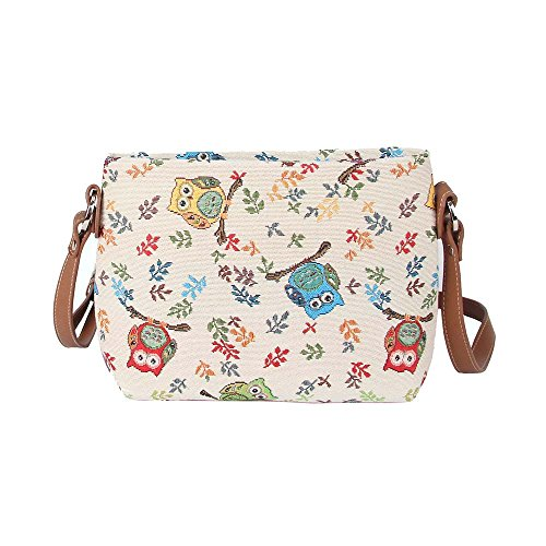 Signare Womens Tapestry Fashion Shoulder Handbag Across Body Messenger Bag Animal Owl