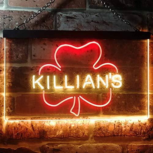 Shamrock Led Pins - zusme George Killian's Irish Red Shamrock Novelty LED Neon Sign Red + Yellow W12 x H8