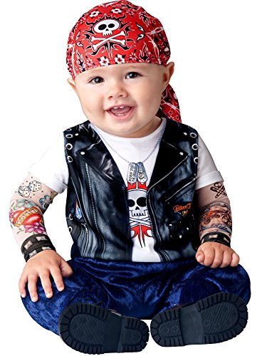 InCharacter Baby Boy's Born To Be Wild Biker Costume, Red/White/Blue, Large (The Wild One Costume)