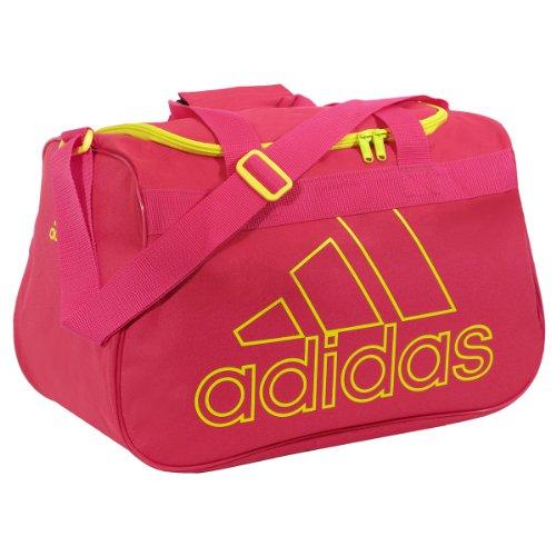 adidas Diablo Small Duffel Bag, Blast Pink/Vivid Yellow, One Size