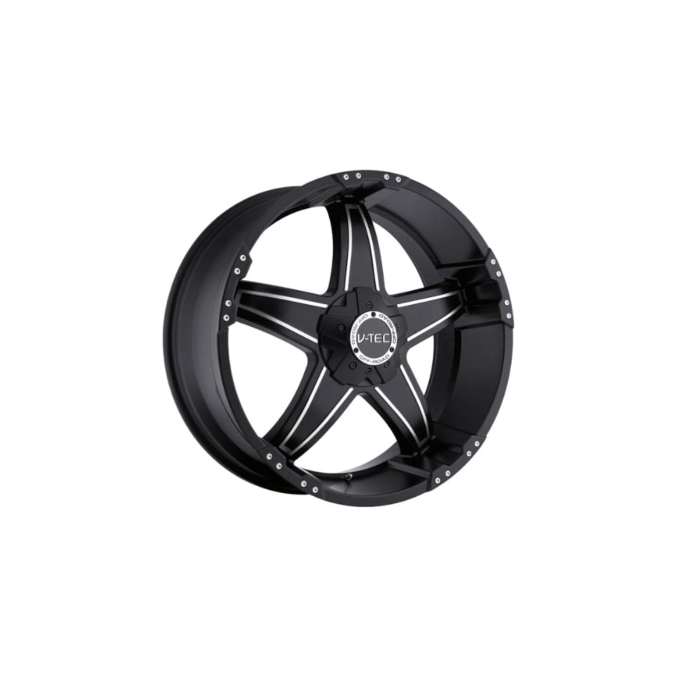 VISION WHEEL   395 wizard   17 Inch Rim x 8.5   (5x114.3) Offset (12) Wheel Finish   black machined face