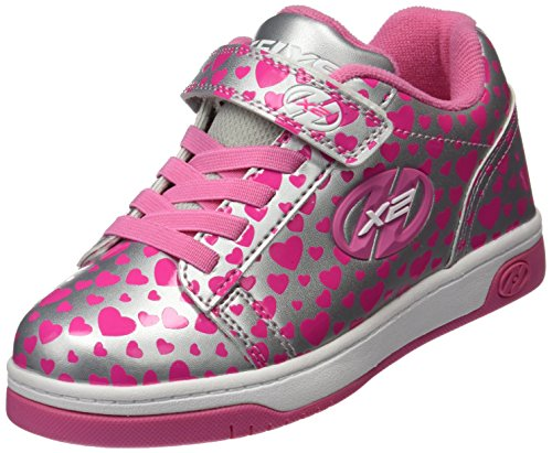 Heelys Mädchen X2 Dual up Sneaker Silber (Silver / Hearts)