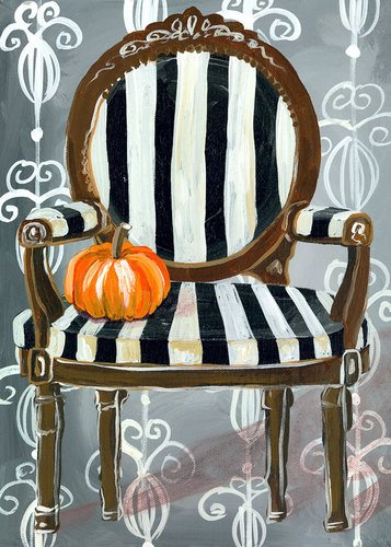 Oopsy Daisy Haunted Parlor Chair by Shelly Kennedy Wall Art