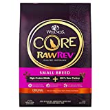 Wellness Core Rawrev Natural Grain Free Small Breed Dry Dog Food, Original Turkey & Chicken With Freeze Dried Turkey, 10-Pound Bag