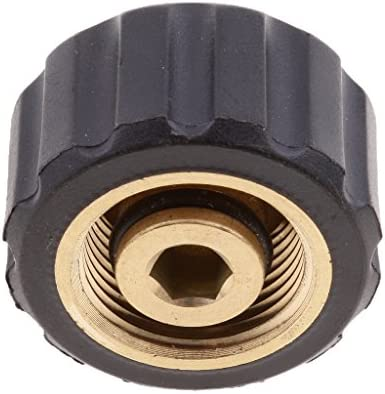 Male 3//8 To Female M22x1.5 Socket 14mm Wash Jet Adapter Pressure Washer