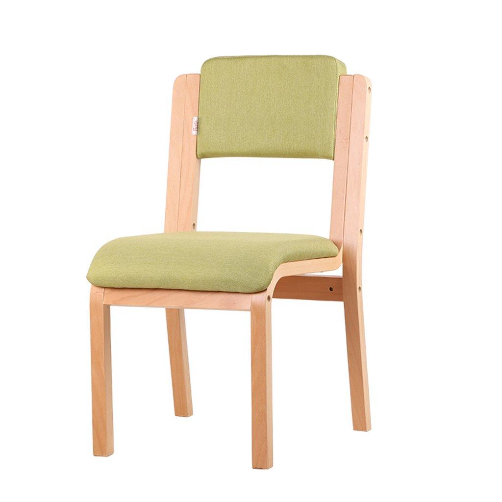 ZXLDP ダイニングチェア ソリッドウッドの背もたれの椅子住宅の家具ダイニングチェアシンプルな現代布のラウンジチェア(カラーオプション付き) ( 色 : B ) B0788HSWQ5 B B
