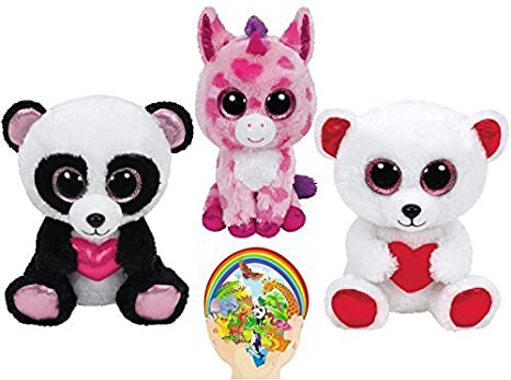 Image Unavailable. Image not available for. Color  Ty Beanie Boos Valentine CUTIE  PIE Panda ... d78b0d018663